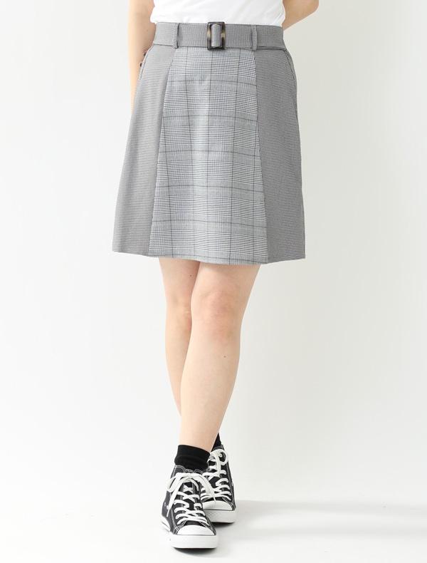 チェック切替スカート