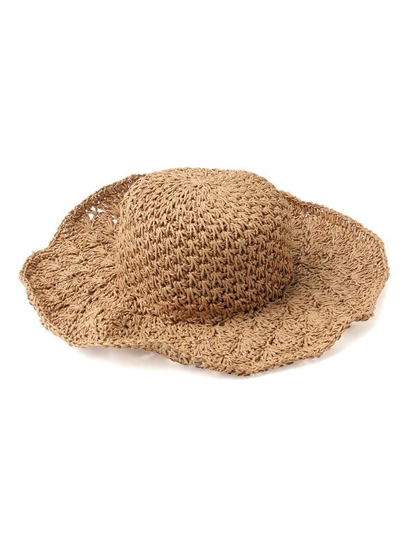 Honeys (ハニーズ) 【GLACIER】 雑材手編つば広帽