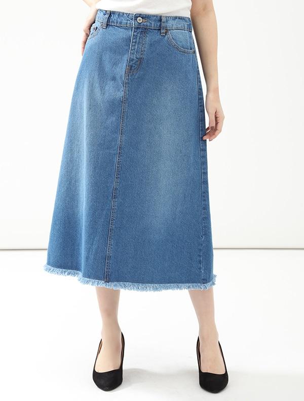 Honeys(ハニーズ) 【CINEMA CLUB】 裾フリンジデニムスカート