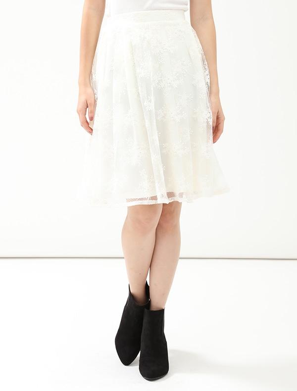 Honeys(ハニーズ) 【C・O・L・Z・A】 花柄刺繍スカート