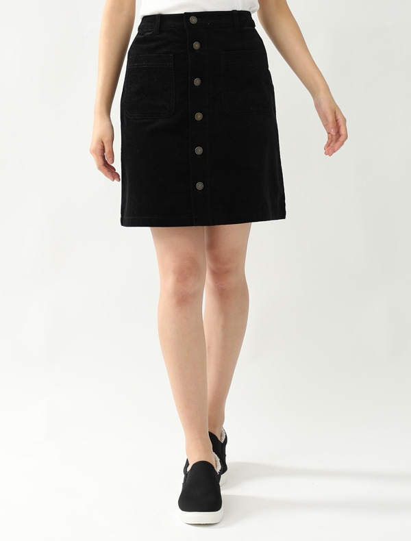 前釦台形スカート