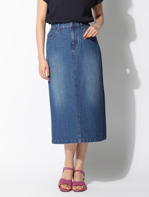 デニムAラインスカート