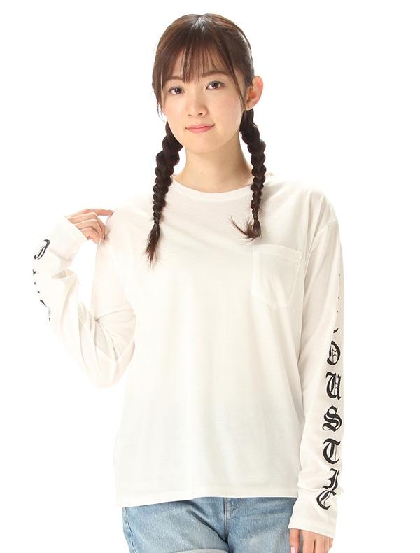 袖ロゴプリントTシャツ