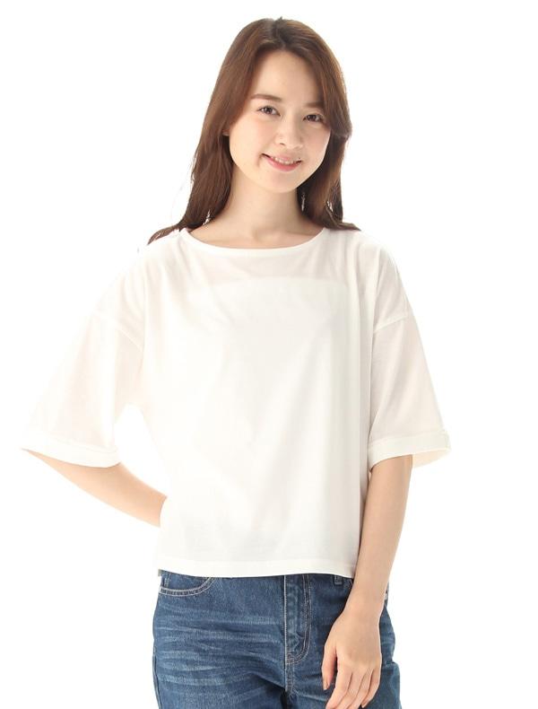 Honeys (ハニーズ) 【CINEMA CLUB】 5分袖ゆるTシャツ