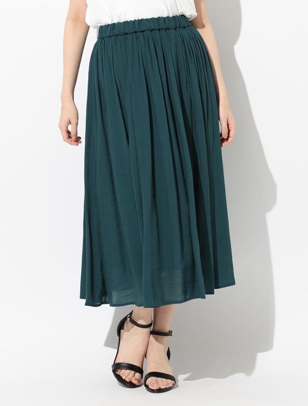 ロングギャザースカート【WEB限定LLサイズ有】