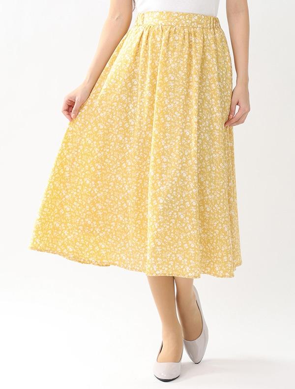 花柄ロングスカート【WEB限定LLサイズ有】