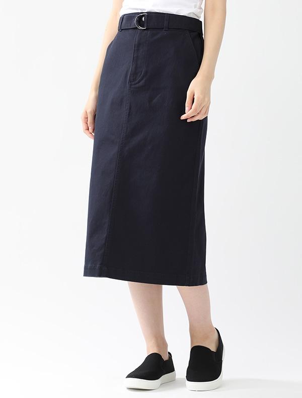 共ベルト付ナロースカート
