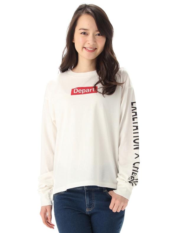 袖ロゴTシャツ