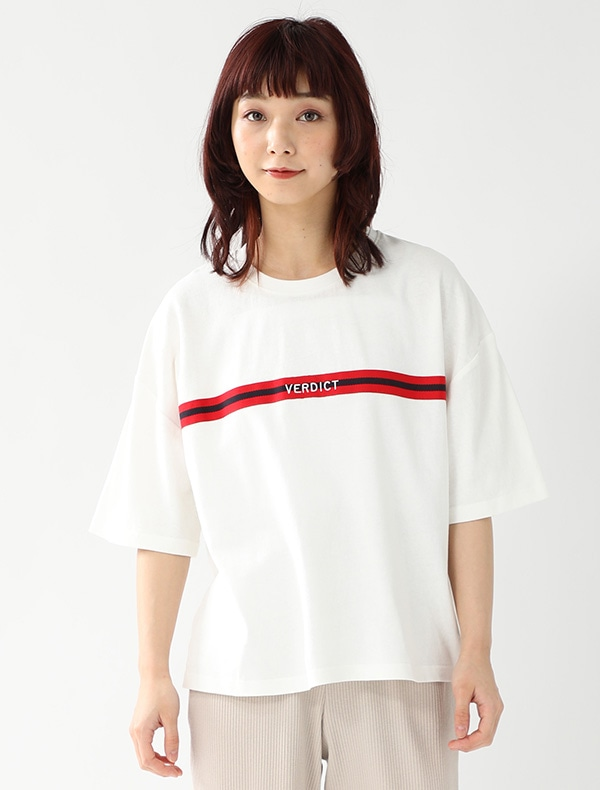 配色テープ使いTシャツ