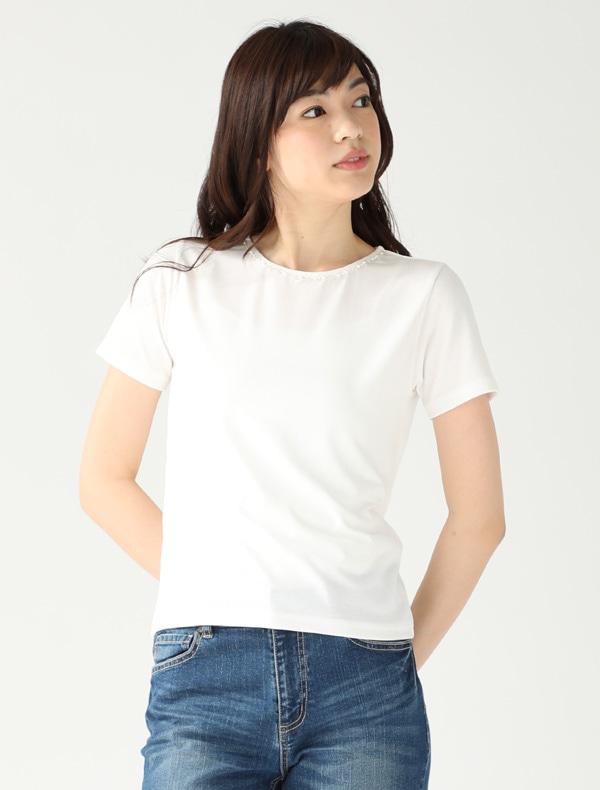 ビジュー付Tシャツ