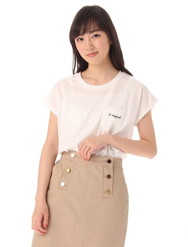 Honeys (ハニーズ) 【GLACIER】 ポケット付Tシャツ