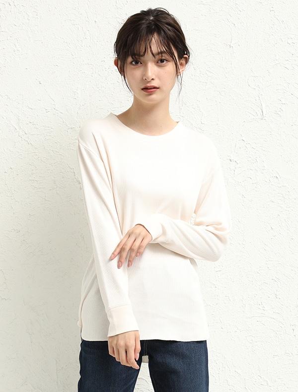 裾ラウンドTシャツ