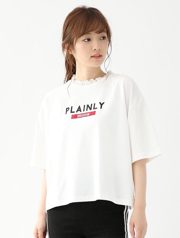 レースみせかけTシャツ