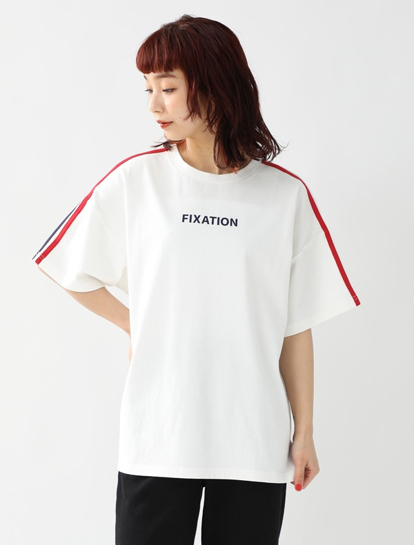 袖ラインTシャツ