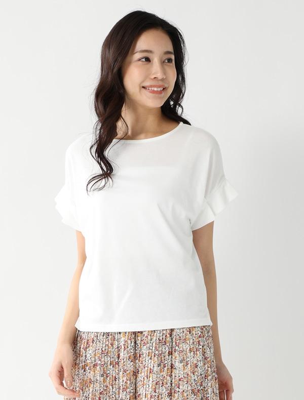 袖タックTシャツ