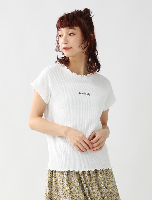 ロゴ刺繍プルオーバー