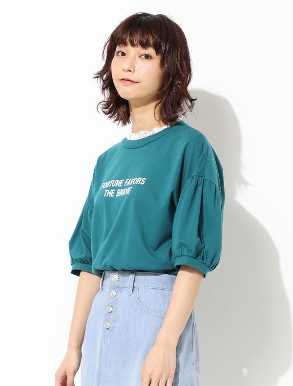 レース見せかけTシャツ【WEB限定LLサイズ有】