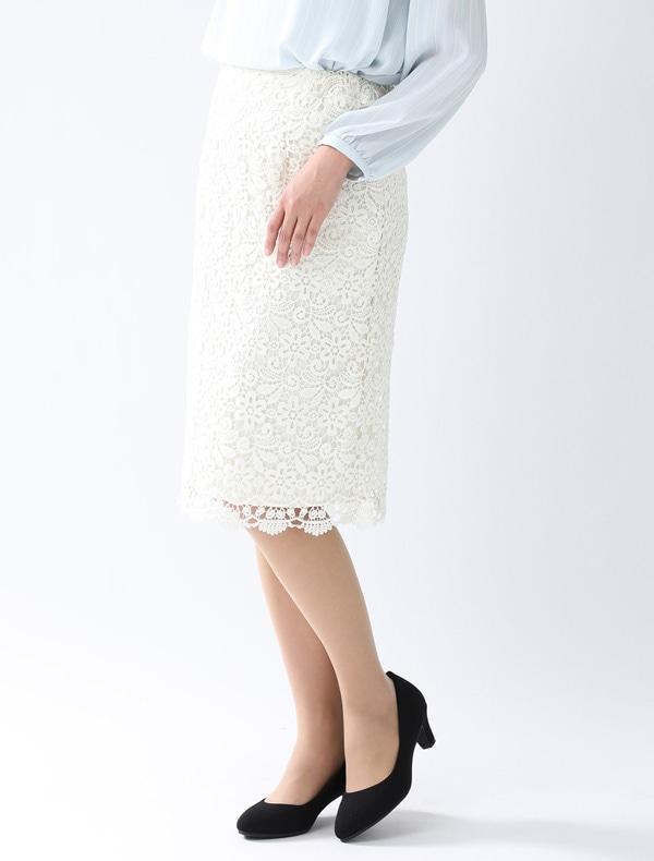 レースタイトスカート【WEB限定LLサイズ有】
