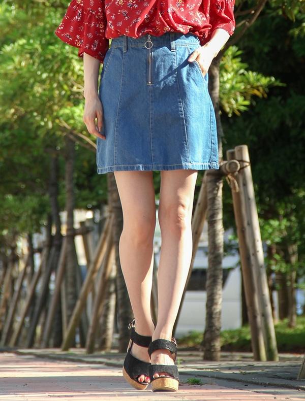 リングジップ台形スカート