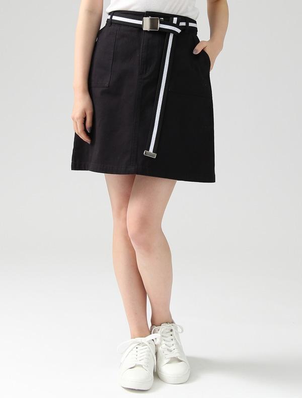 Honeys(ハニーズ) 【C・O・L・Z・A】 ベルト付台形スカート