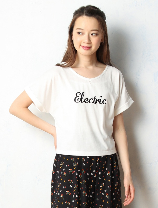Honeys (ハニーズ) 【C・O・L・Z・A】 後縛りロゴ刺繍Tシャツ