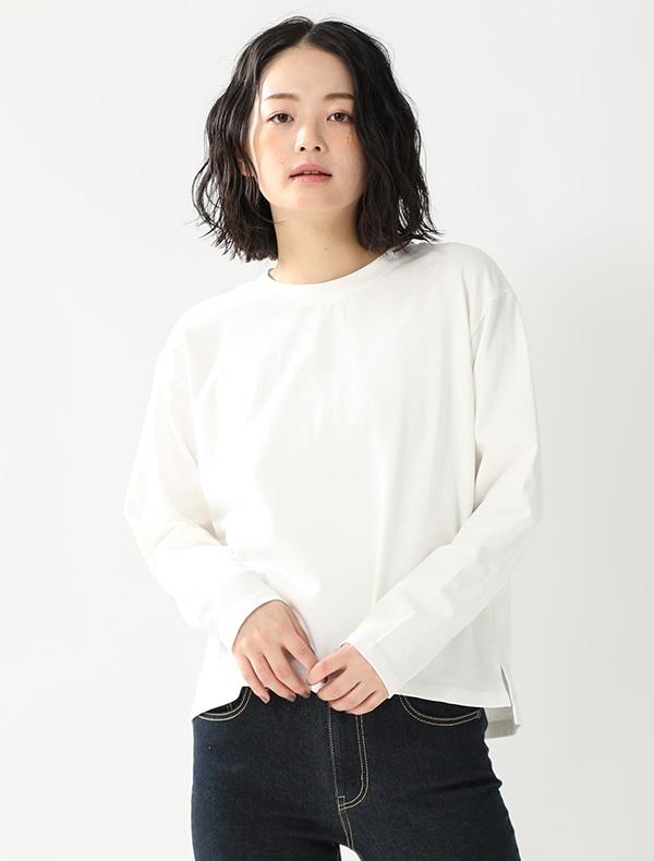 裾スリット入Tシャツ