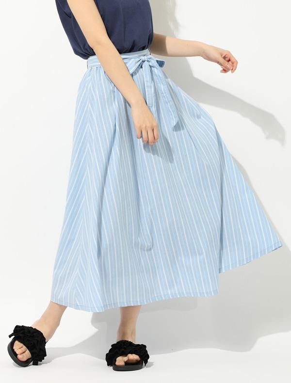 共リボン付フレアスカート【WEB限定LLサイズ有】