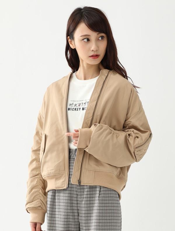中綿リブブルゾン【OUTLET】
