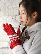 ノルディック柄5指手袋