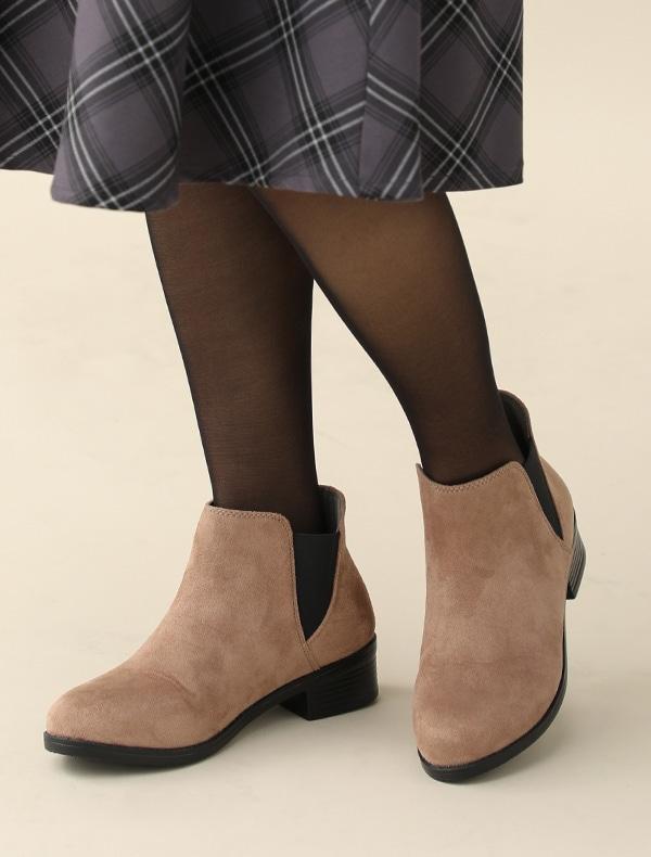 サイドゴア軽量ブーツ