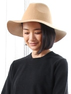帯無しつば広中折れ帽(OT)