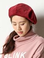 コーデュロイベレー帽