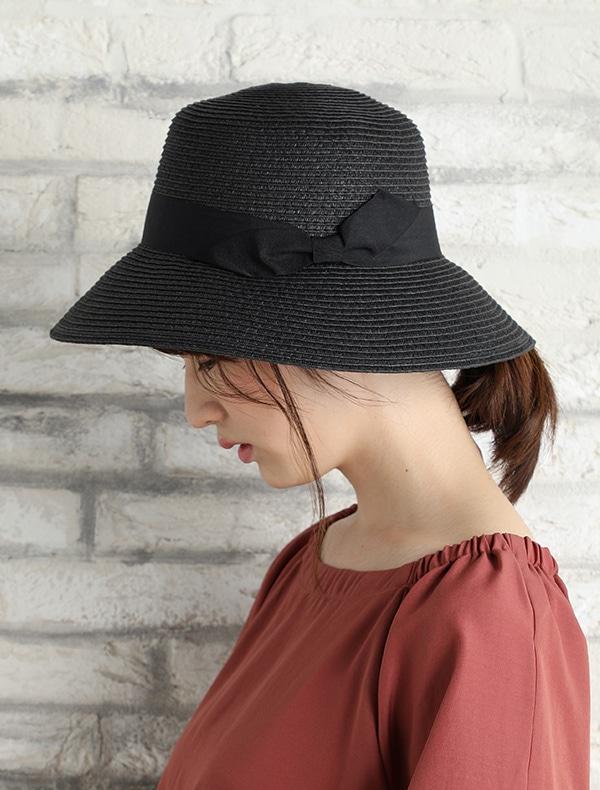 雑材つば広帽