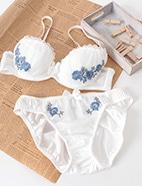 花柄刺繍ブラセット