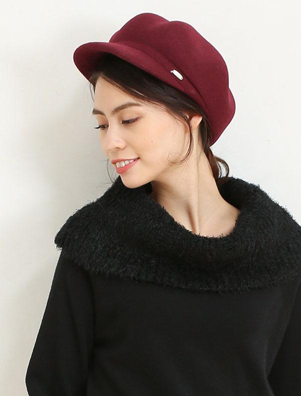 ウールキャスケット帽