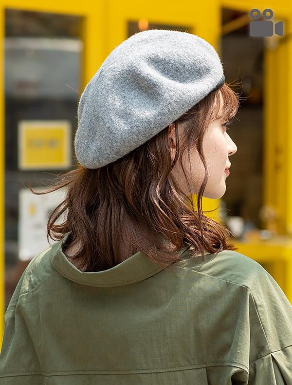 パイピングベレー帽