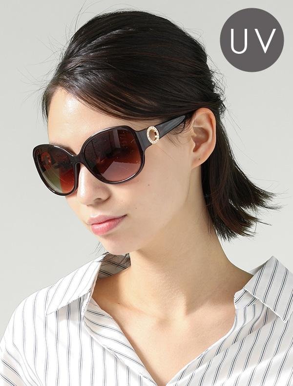 テンプルメタルサングラス