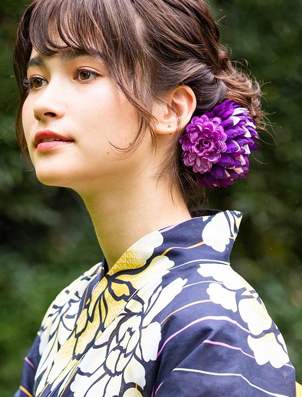 【先行予約】浴衣大花コサージュ