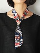 リング付スカーフネックレス