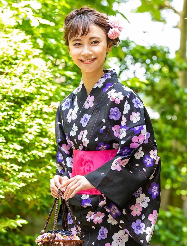 浴衣クロ×桜