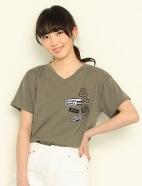 ワッペン付Tシャツ