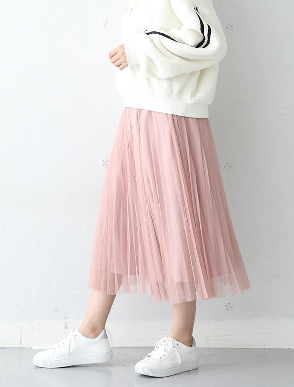 チュールスカート【WEB限定LLサイズ有】