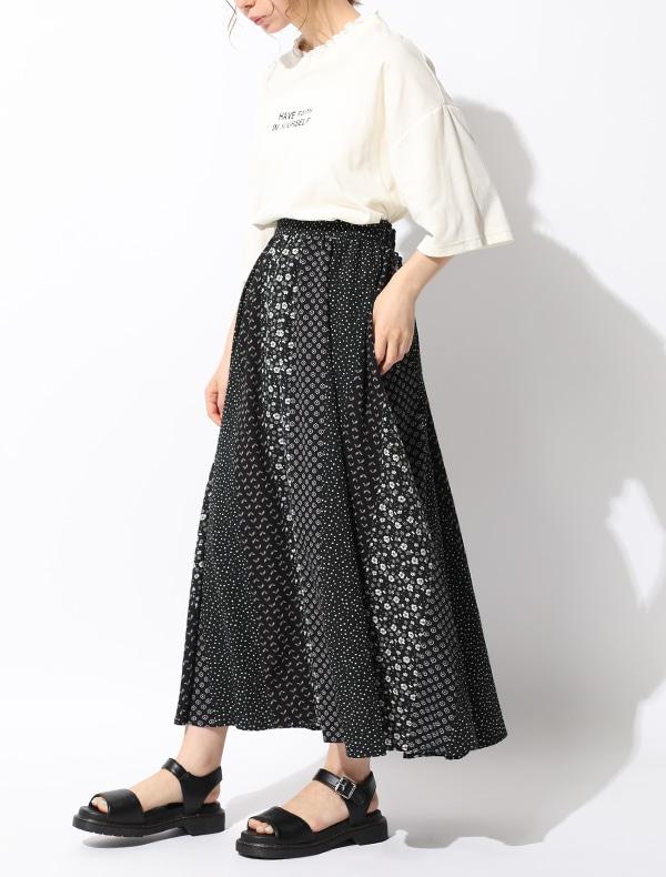 柄切替スカート【WEB限定LLサイズ有】
