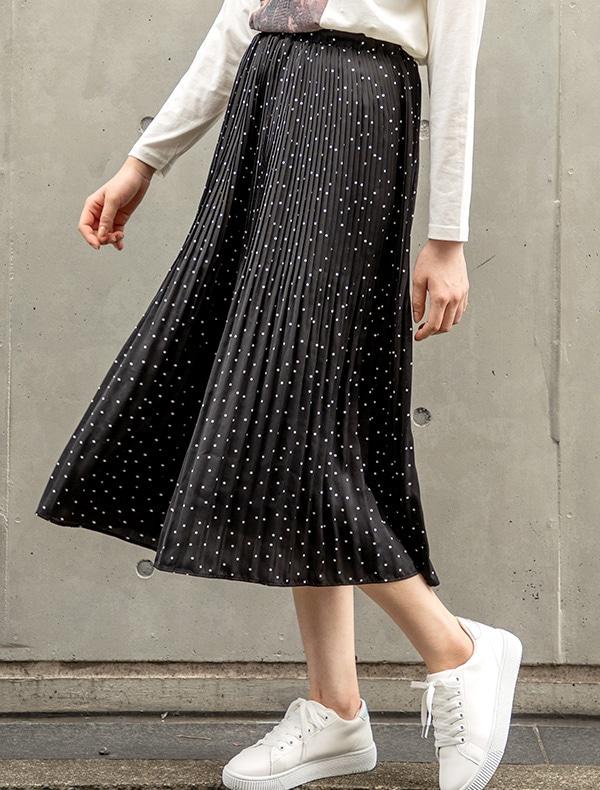 プリーツスカート【WEB限定LLサイズ有】