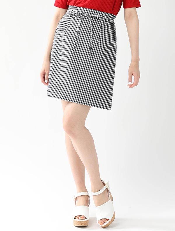 共リボン付台形スカート