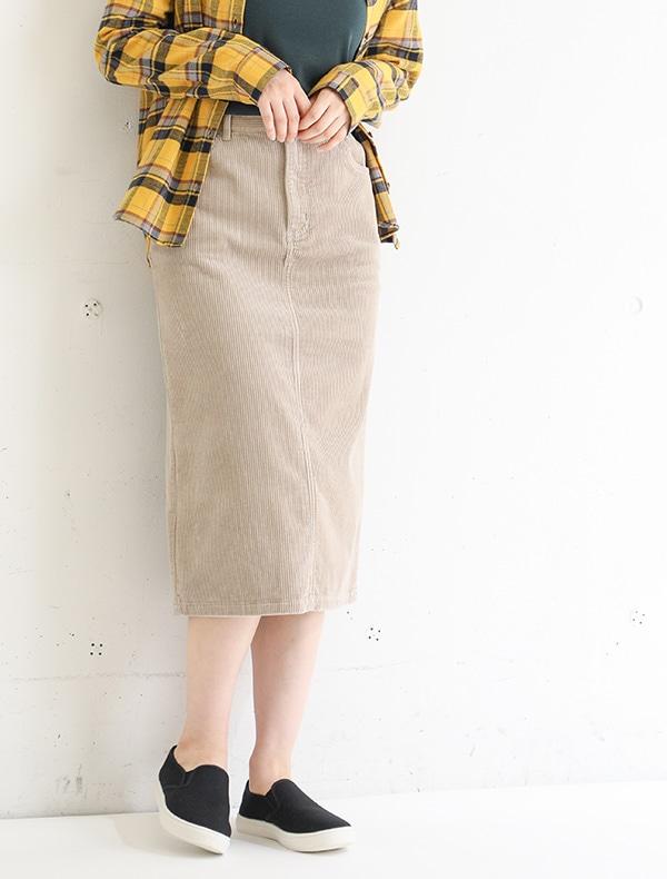 コーデュロイスカート【WEB限定LLサイズ有】