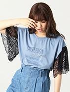 レース袖Tシャツ(OT)