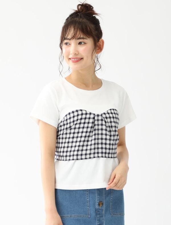 ビスチェみせかけTシャツ