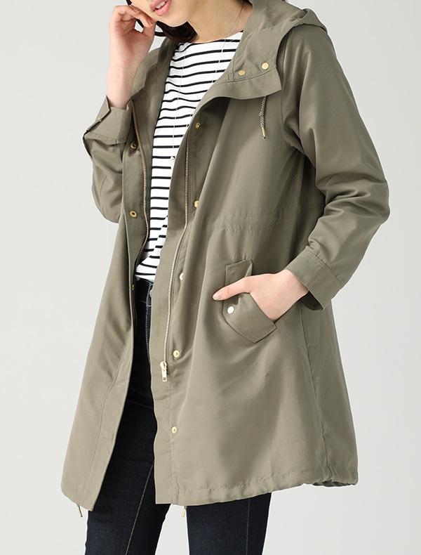 フードロングジャケット