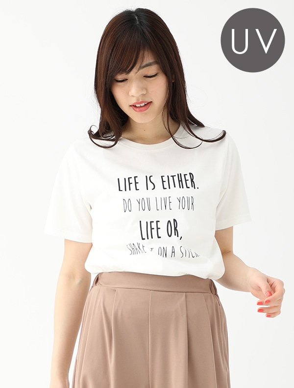 ロング丈プリントTシャツ